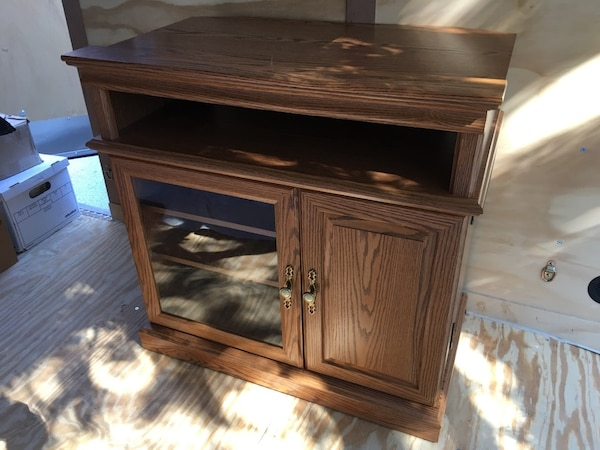 Used Tv Stereo Stand With Locking Door For Sale In Iron Mountain