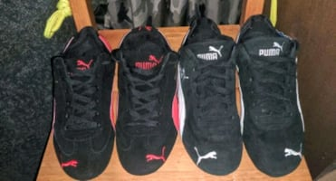 2 PAIRS OF WOMANS PUMA SIZE 6 25