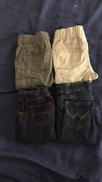 two black and brown denim shorts District Heights, 20747