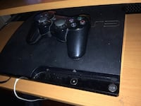 Black sony ps3 slim console with controller Toronto, M3J 0C1