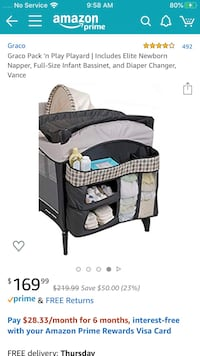 Playard with changing table and napper