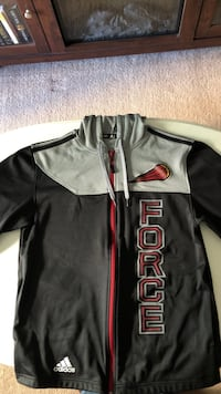black and red Adidas zip-up jacket Winnipeg, R2G 3G6