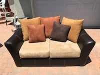 black and gray suede loveseat Los Angeles, 90056
