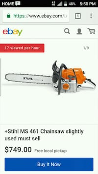 BRAND NEW NEVER USED STIHL MS 461