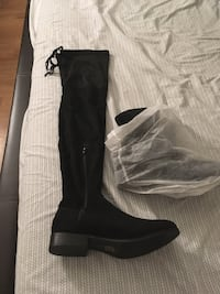 black suede side zip boots District Heights, 20747