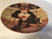 """1981""""Valentines Day"""" porcelain collector plate/Knowles/#10133A/4th Issue/Don Spaulding Fredonia, 14063"""