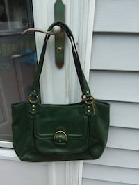 Coach all leather dark green large tote Sugar Notch, 18706