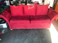 Red sofa asking $100 or obo