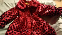 red and black polka dot print dress Surrey