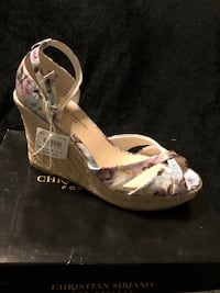 Floral print wedge sandals Provo, 84606