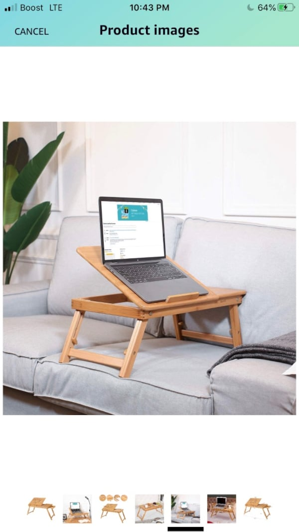 Bamboo laptop tray 3