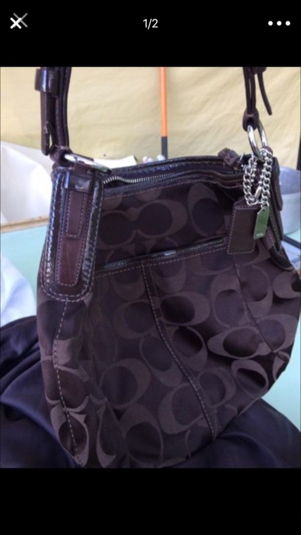 ed93125b25c02 Used Dark brown coach purse for sale in Knoxville - letgo