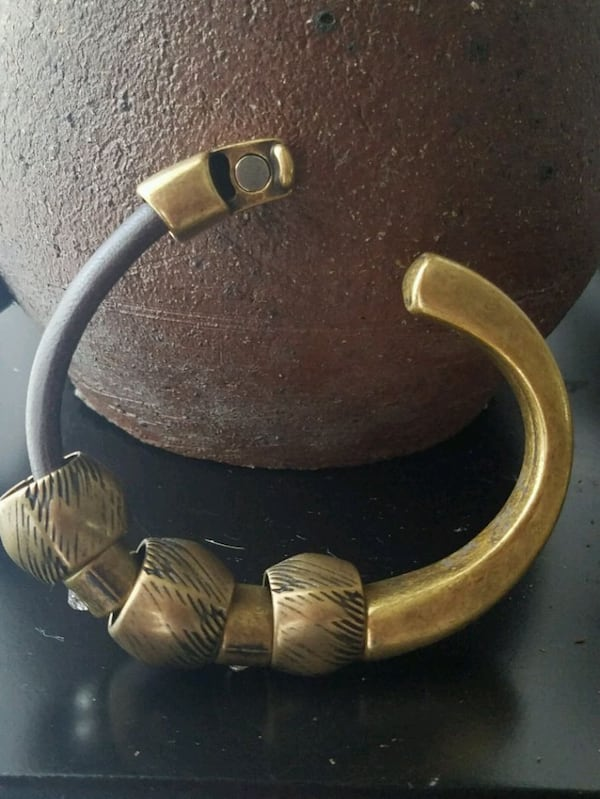 Modern Leather and Metal Bracelet 1