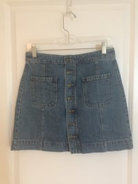 Button down denim skirt Vienna