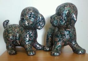 Twin Ceramic Puppies
