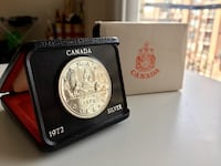 1972 Vintage Royal Canada Mint Iconic Voyageur $1 50% Silver