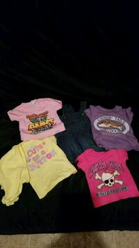 Lot of 5 Baby Girl Cloths. Size 6 Month.  363 mi