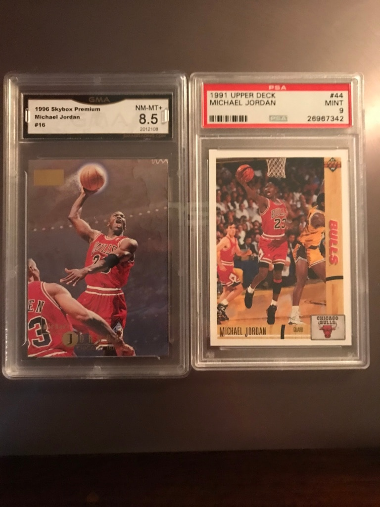 Photo Graded Michael Jordan Basketball Cards