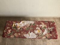 Bench, needs re-upholstered or covered.   1459 mi