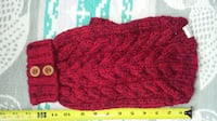FouFouDog Cable Sweater Red Medium - New Dog Sweater