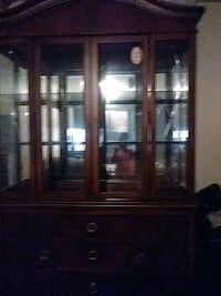 brown wooden framed glass display cabinet Washington, 20019