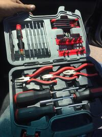 assorted black-and-red hand tools with case Pasadena, 77502