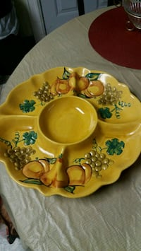 CERAMIC TABLE TRAY DECOR