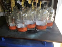 Empty bourbon bottles for crafting or design... Chantilly