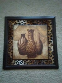 brown vase painting with black wooden frame Columbia, 29223