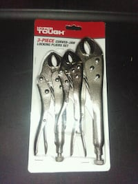 gray Hyper Tough curved jaw locking pliers set Norfolk, 23513
