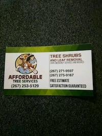 Offering tree shrubs brush and leaf removal