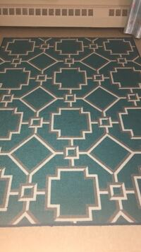 Turquoise and white carpet thin Toronto, M1T 1A8