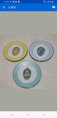Lot of 3 Email de Limoges Veritable Porcelaine  Eg