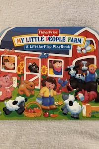 """Fisher Price Little People """" Flap"""" book.   Farm theme"""