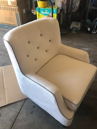 white and brown fabric sofa chair Las Vegas, 89102