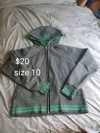 gray and green zip-up hoodie Calgary, T2E 1T8