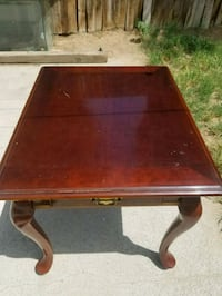 brown wooden side table with drawer Bakersfield