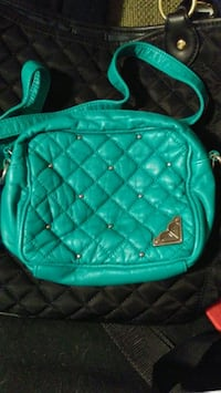 quilted teal Roxy leather crossbody bag Hamilton, L8L