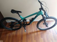 green and black hardtail mountain bike Grimsby, L3M 3C5