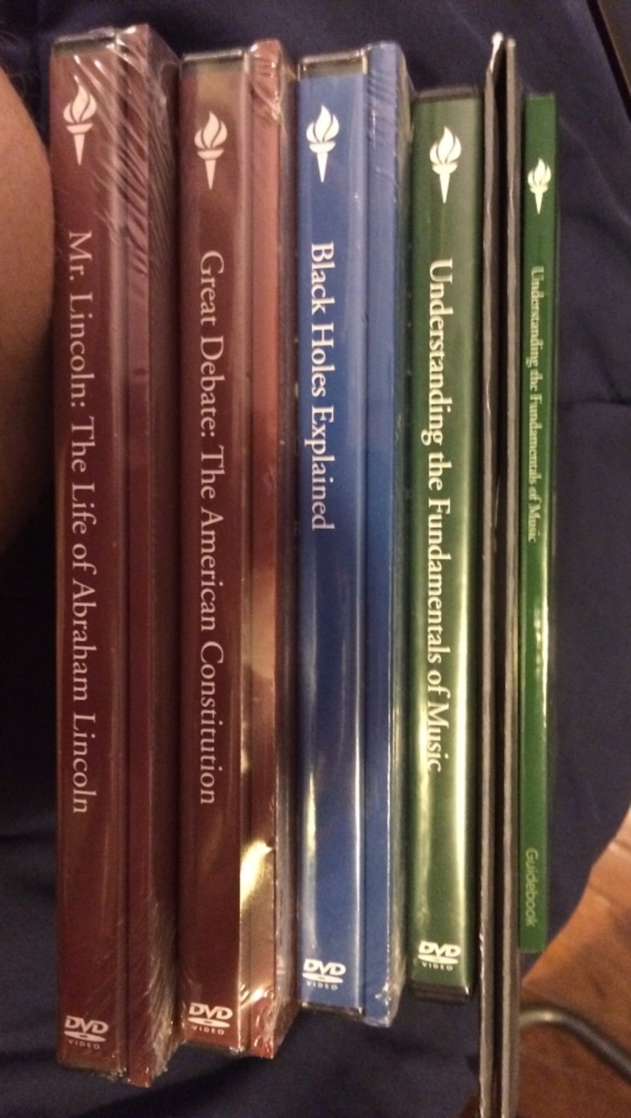 "4 dvds from ""The Great Courses"""