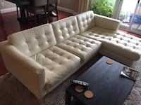 White Ikea Sectional Couch