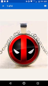 Deadpool pendant necklace Olean, 14760