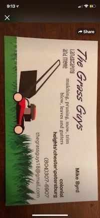 Lawn mowing Colonial Heights