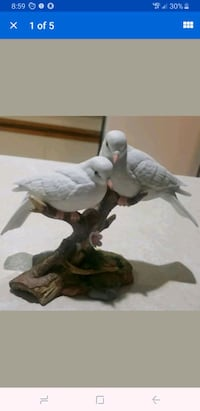 Vtg 1987 Fine Porcelain Figurine Wings of Love Mar