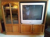 TV with brown TV hutch free MIDDLERIVER