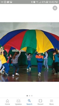 kids 6'-7' parachute for indoor or outdoor play  Upper Marlboro, 20774