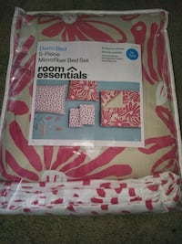 pink and white floral comforter set Goodyear, 85395