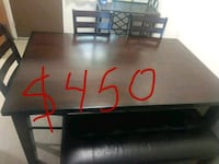 black and brown wooden TV stand Topeka, 66605