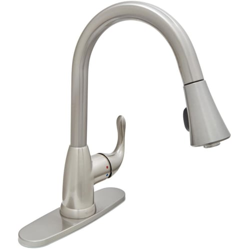 BRAND NEW!!! Glacier Bay Market Single-Handle Pull-Down Kitchen Faucet with TurboSpray and FastMount in Stainless Steel