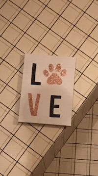 White and black love wall decoration Newton, 02461